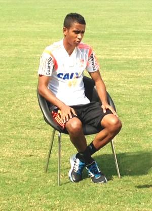 Gabriel conversou com o Esporte Espetacular (Foto: Gustavo Serrra)