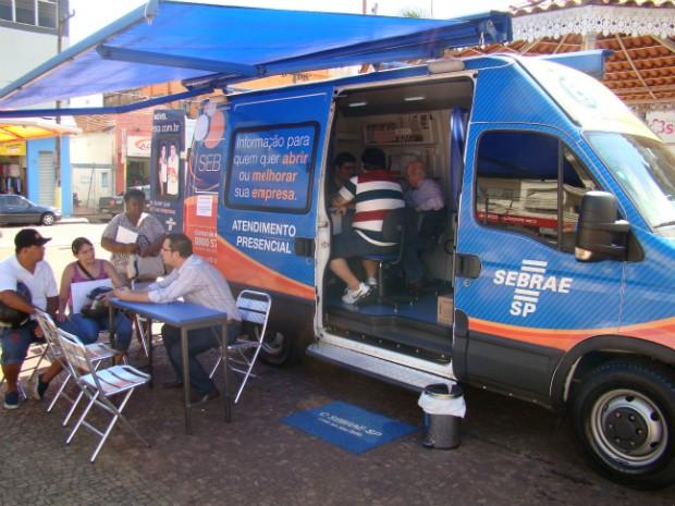 Unidade móvel do Sebrae ficará na Praça da Independência, das 10h às 16h. (Foto: Divulgação / Sebrae)