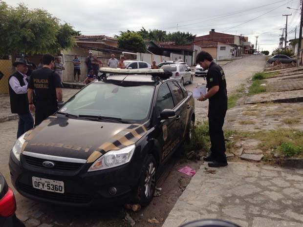 Operação da PF cumpre 28 de mandados de prisão entre sete cidades paraibanas (Foto: Walter Paparazzo/G1)