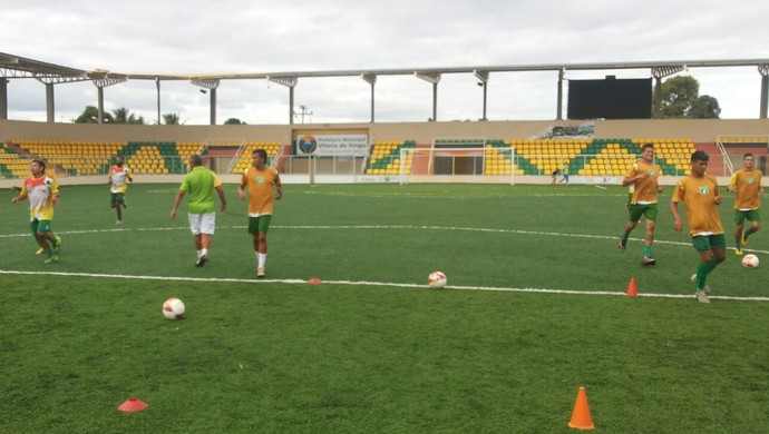 Jogadores do Tapajós realizam treinamentos em Vitória do Xingu (Foto:  Divulgação Tapajós/FC)
