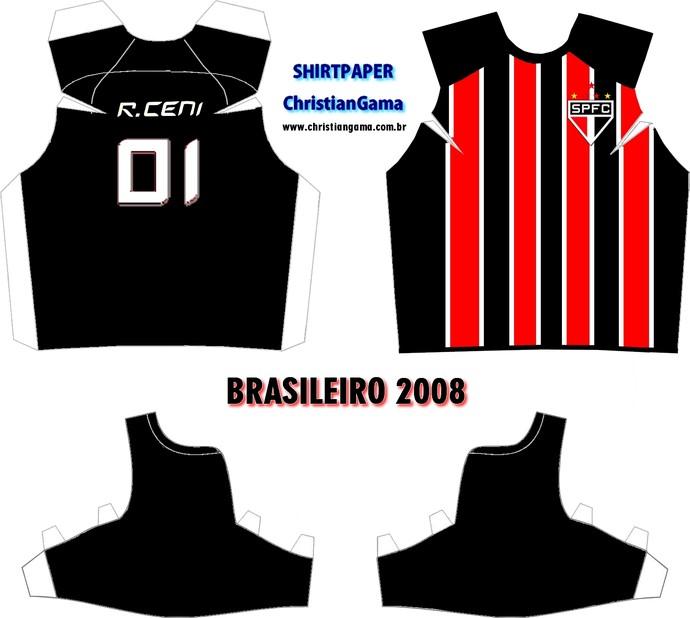 (NÃO USAR) Camisa Rogério Ceni Brasileiro 2008 (Foto: GloboEsporte.com)
