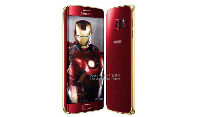 Seria este o Smartphone Galaxy S6 Edge com o Homem de Ferro? (Foto: Reprodução/TechCrunch)