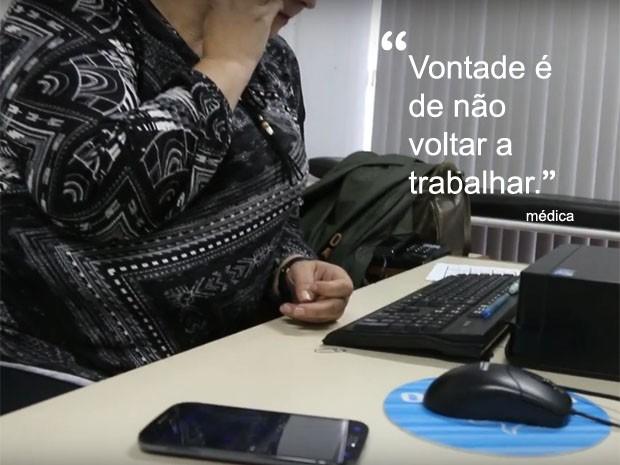 Médica vai adiantar aposentadoria para deixar posto da Cruzeiro (Foto: Reprodução/G1)
