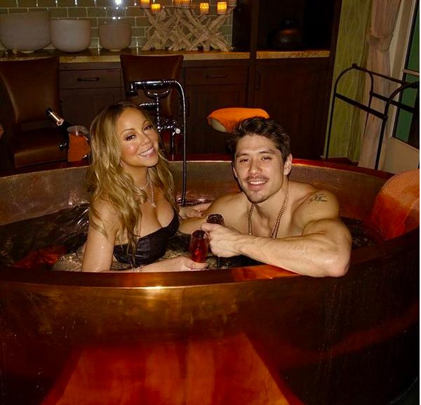 Mariah Carey com o atual namorado, Bryan Tanaka (Foto: Instagram)