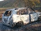 Corpo carbonizado é encontrado dentro de carro em Atibaia, SP