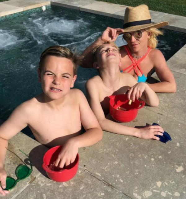 Britney Spears e os filhos (Foto: Reprodução Instagram)