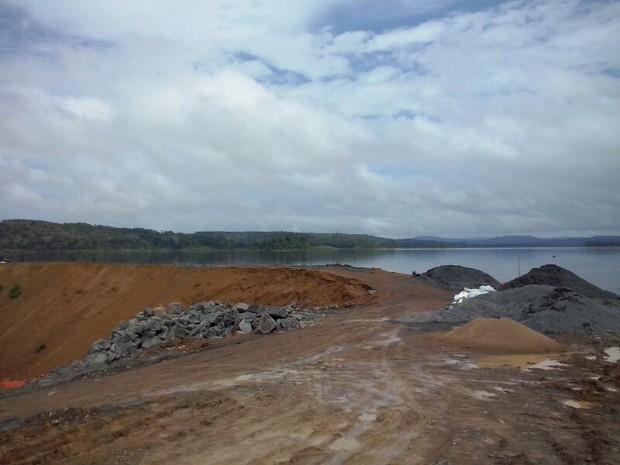 Local do alagamento na Hidrel�trica de Santo Ant�nio, em Laranjal do Jari (Foto: Francisco Pilha/Arquivo Pessoal)