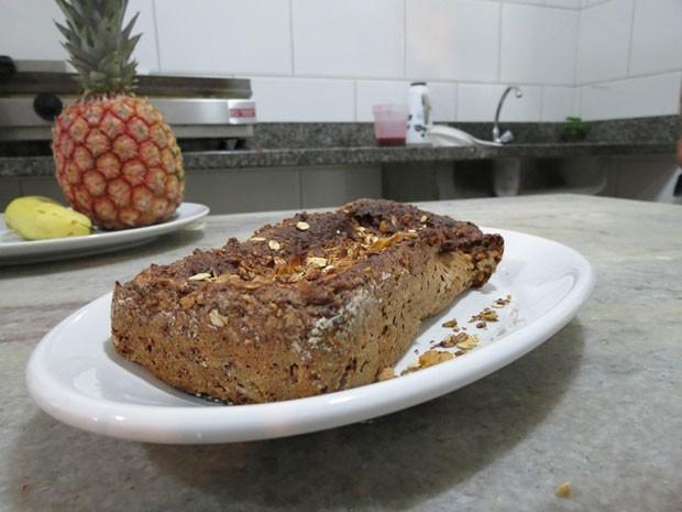 """""""Bolo sem"""", receita especial para quem tem restrições a ingredientes tradicionais (Foto: Valdinei Guimarães/ G1ES)"""