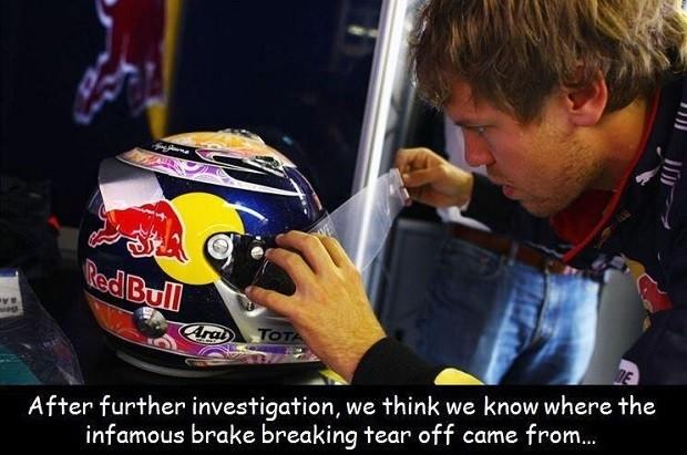 Lotus brinca que Sebastian Vettel provocou abandono de Kimi Raikkonen na Bélgica (Foto: Reprodução)