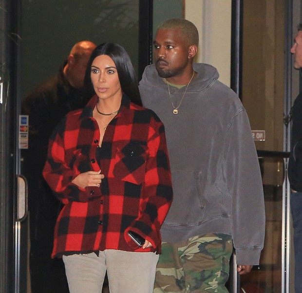 Kim Kardashian e Kanye West (Foto: Grosby Group)