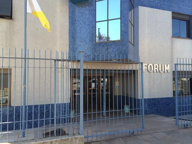 Fórum de Três Passos (Foto: Caetanno Freitas/G1)