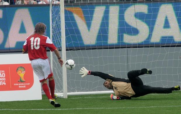 Soccerex Caniggia e Vitor Baia (Foto: André Durão / Globoesporte.com)