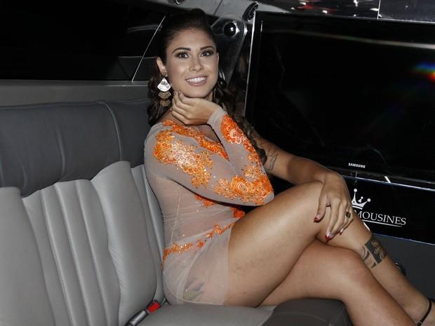 Rita Mattos, capa da Playboy de setembro, em festa em São Paulo (Foto: Celso Tavares/ EGO)
