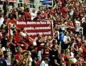 final basquete NBB faixa apoio benite Flamengo e uberlândia (Foto: Gabriel Fricke)