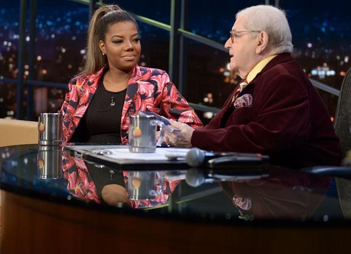 Ludmilla é entrevistada pelo apresentador Jô Soares (Foto: Ricardo Martins/Programa do Jô)