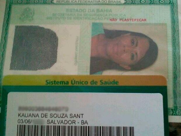 Cartão do SUS (Foto: Kauana Santos/Arquivo Pessoal)