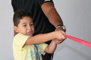 João Lucas praticando funcional (Foto: Amanda Lima)