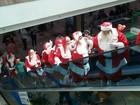 Grupo de Papais Noéis viaja até Gramado para abertura do Natal Luz