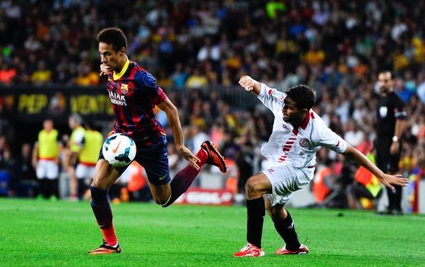 Jorge Andujar Moreno e Neymar Barcelona (Foto: Getty Images)