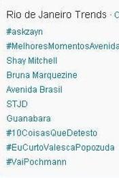 Trending Topics no Rio às 17h11 (Foto: Reprodução)