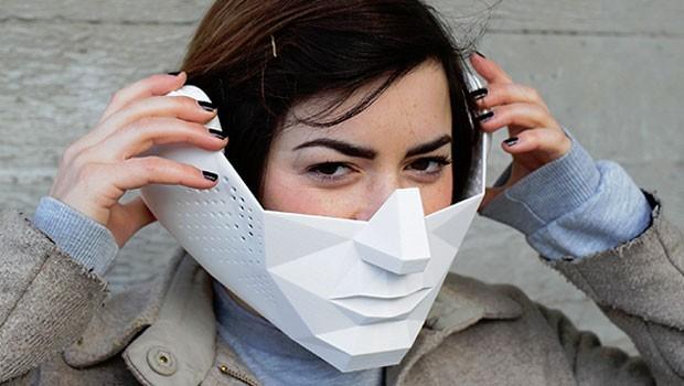 A máscara Eidos Audio permite ao usuário ouvir o áudio de forma mais seletiva (Foto: Tim Bouckley/Divulgação)