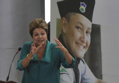 Dilma durante anúncio da ampliação do programa Brasil sem Miséria (Foto: Agência Brasil)