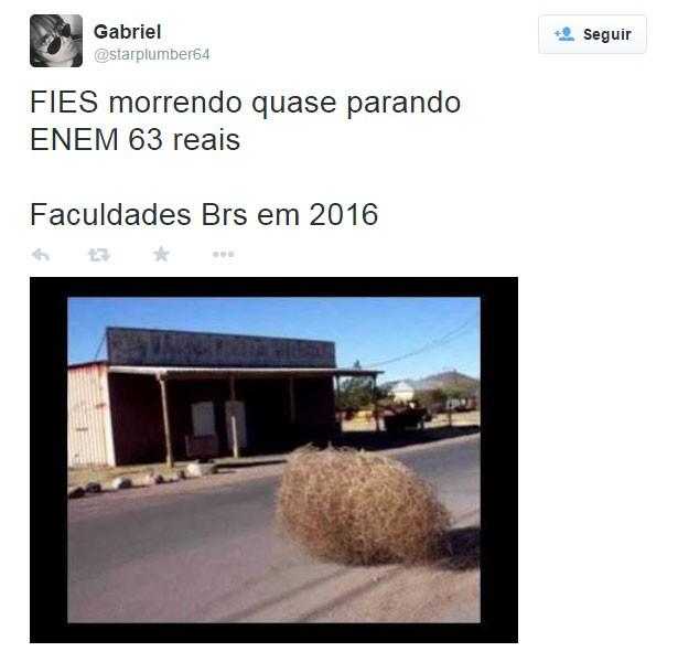 Print enem 15 (Foto: Reprodução/Twitter)