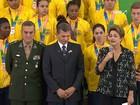 Dilma recebe medalhistas dos Jogos Militares no Planalto