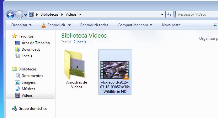 Localizando o arquivo criado pelo corte feito no VLC (Foto: Montagem/Edivaldo Brito)