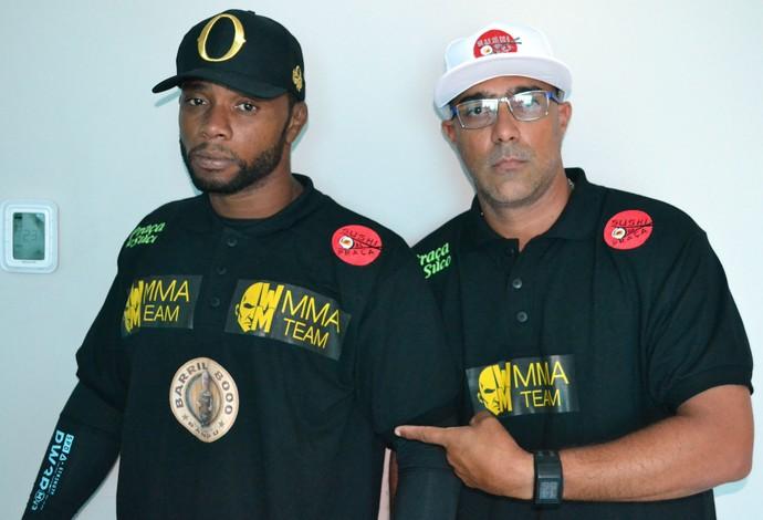 Wendell Negão, lutador do UFC, e Jairo Corsino, preparador físico (Foto: Marcelo Barone)