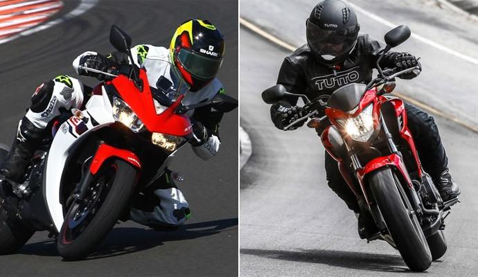 Yamaha YZF-R3 (à esq) e Honda CB500