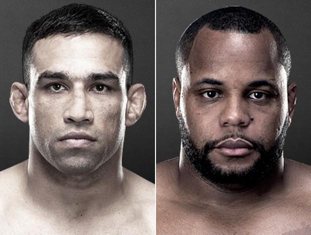 MMA Montagem UFC Fabricio Werdum Daniel Cormier (Foto: Reprodução/UFC)