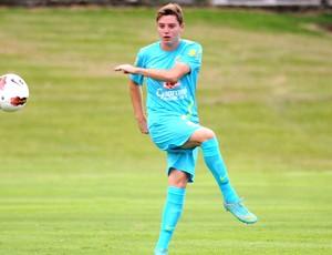 Adryan no treino da Seleção Sub-20 (Foto: André Durão / Globoesporte.com)