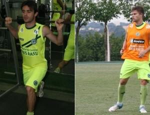 Juliano e Eduardo Sasha, do Goiás (Foto: Rosiron Rodrigues/Goiás E.C)