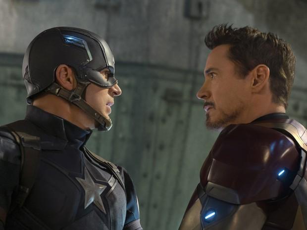 Capitão América e Homem de Ferro entram em confronto em 'Guerra Civil', 13º filme da Marvel nos cinemas (Foto: Divulgação/Marvel)