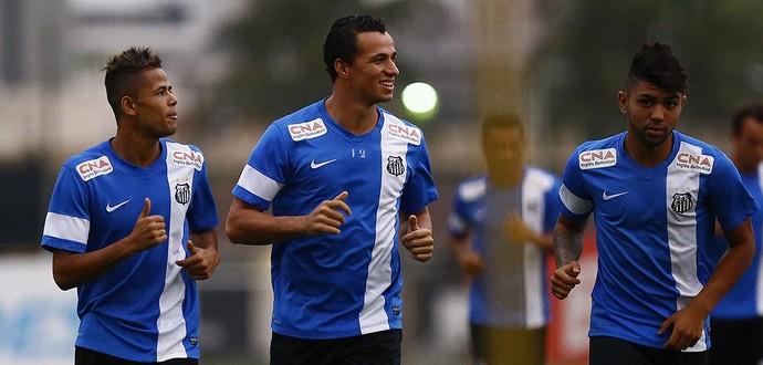 Geuvânio Leandro Damião Gabriel Santos (Foto: Ricardo Saibun/Divulgação Santos FC)