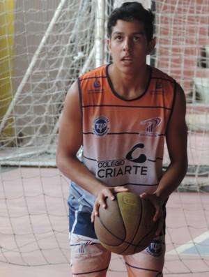 Adler Monteiro Ribeiro, Basquete sub-16, Presidente Prudente (Foto: Ronaldo Nascimento / GloboEsporte.com)