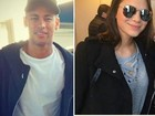 Bruna Marquezine é tietada em treino de Neymar na Espanha
