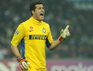 Julio César goleiro Inter de Milão (Foto: Getty Images)