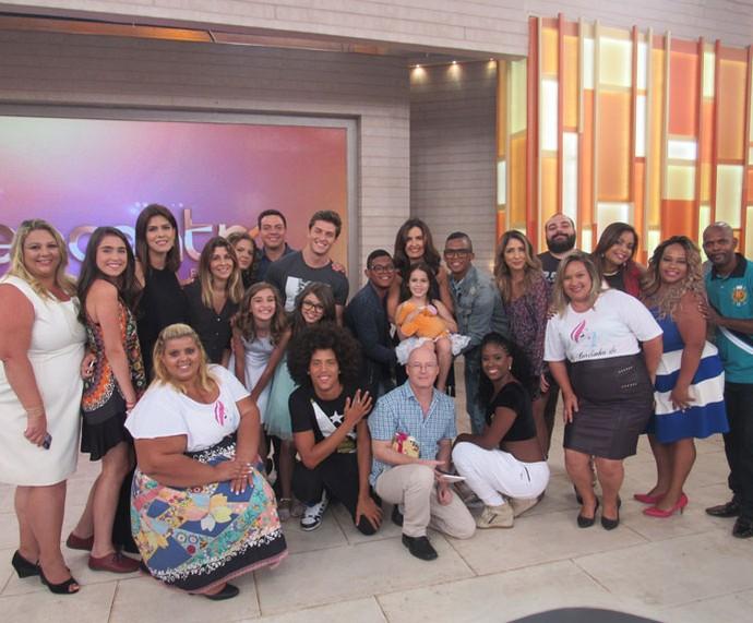 Todos os convidados do programa  (Foto: Monique Arruda/Gshow)