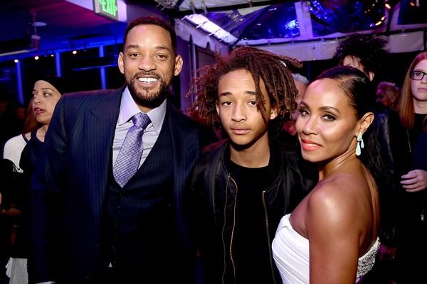 Will Smith, Jaden Smith e a mãe Jada Pinkett Smith  (Foto: Getty Images)