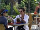 Cleo Pires e Cissa Guimarães gravam 'Salve Jorge' no Rio