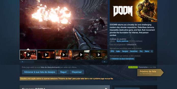 Navegue pelos jogos da Summer Sale do Steam (Foto: Reprodução/Felipe Vinha)