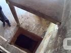 Agentes descobrem túnel com 3 m de profundidade dentro de cela no Piauí