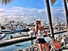 Roberto Justus posta foto da namorada de sainha durante férias
