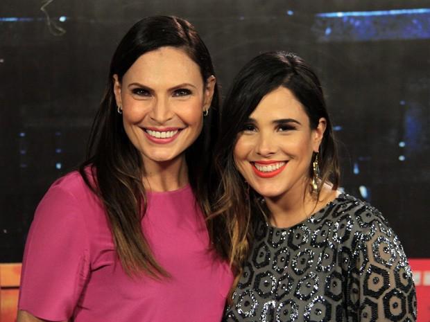 Laura Muller e a cantora Wanessa participam do Outubro Rosa (Foto: Marcos Mazini/Gshow)