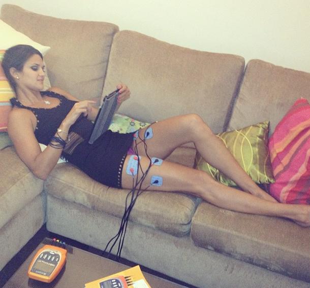 Leryn Franco se recupera da competição e descansa em casa (Foto: Reprodução Instagram)