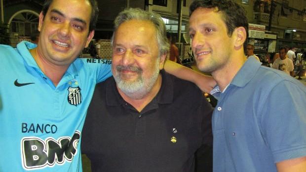 Luis Alvaro e Belletti na Vila Belmiro (Foto: Marcelo Hazan / Globoesporte.com)