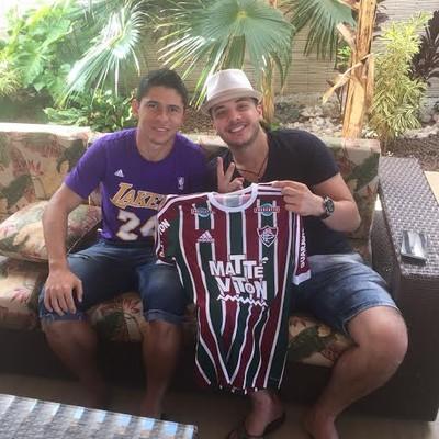 Osvaldo, Wesley Safadão Fluminense (Foto: Arquivo pessoal)