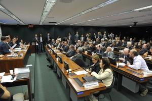 Parlamentares em sessão da CPI da Funai-Incra